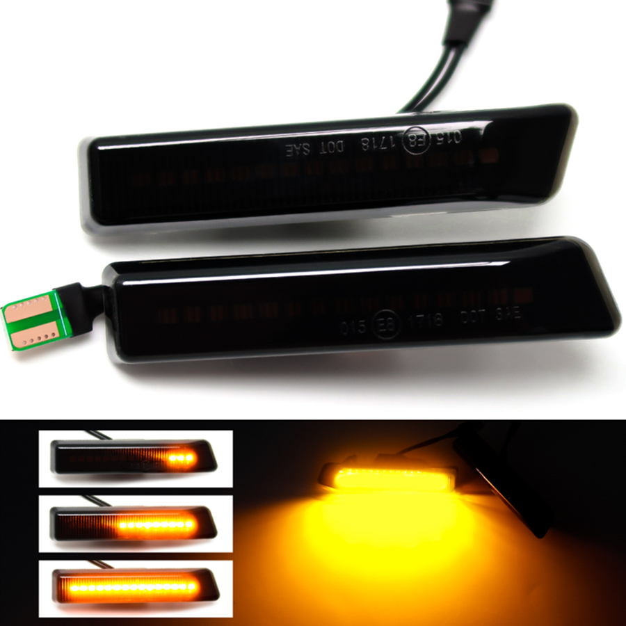 Led Dynamic Turn Signal Light Side Marker Fender Sequential Lamp Blinker For BMW E36 M3 Facelift 1997-1999 X5 E53 1999-2006