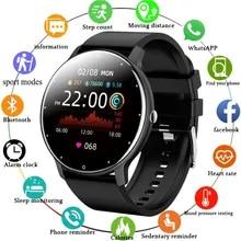 SMART UHR LIGE 2021 Neue Männer Voller Touch Screen Sport Fitness Uhr IP67 Bluetooth wasserdicht für Android ios smartwatch