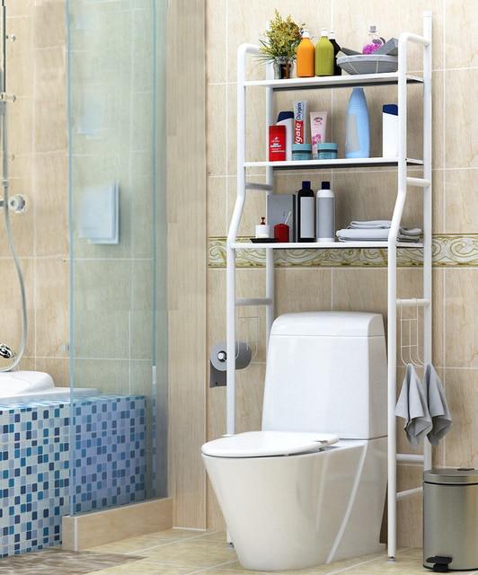 Bathroom shelves toilet floor type storage accessory rack organizer for bathroom no punching floor type kitchen fixture