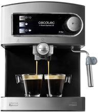 Cecotec Machine à Café Express 20 Barres Professionale avec Manomètre 850 W Pression Jauge Comprend Réglable Vide Plateau Chaud