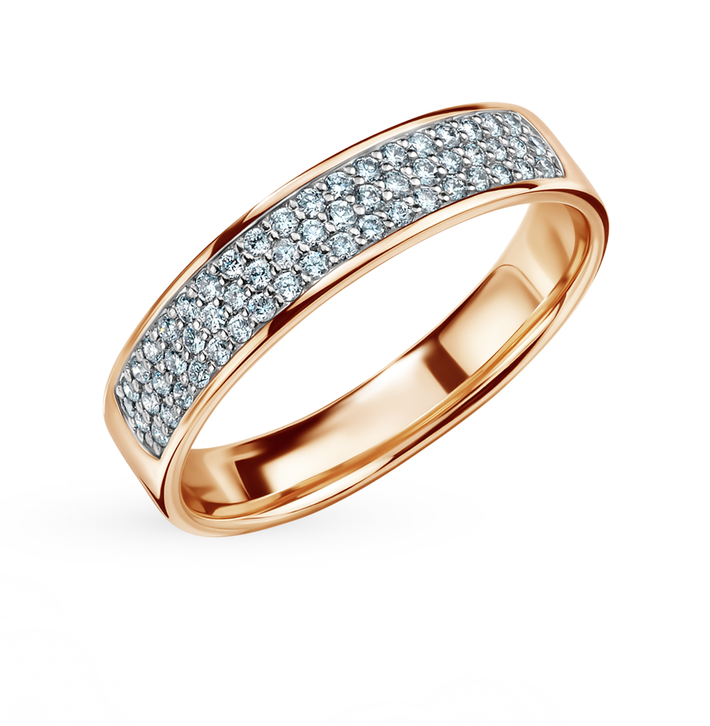 Gold Ring With Diamonds Sunlight