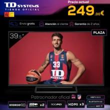 Televisores Smart TV 39,5 Pulgadas TD Systems K40DLX11FS 3x HDMI, DVB-T2/C/S2, HbbTV [Envío desde España, garantía de 2 años]