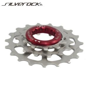 Image 1 - SILVEROCK Freewheel External 3 Speed For Brompton 3Sixty Folding Bike 11t 14t 19t Bicycle Chainwheel Cassette Chrome Sprocket