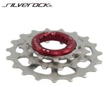 SILVEROCK Freewheel zewnętrzna 3 prędkość dla Brompton 3sixty rower składany 11t 14t 19t rowerowa koło łańcuchowe kaseta chromowana zębatka