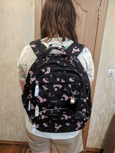 Printed Large School Backpack for Teenage Girls photo review