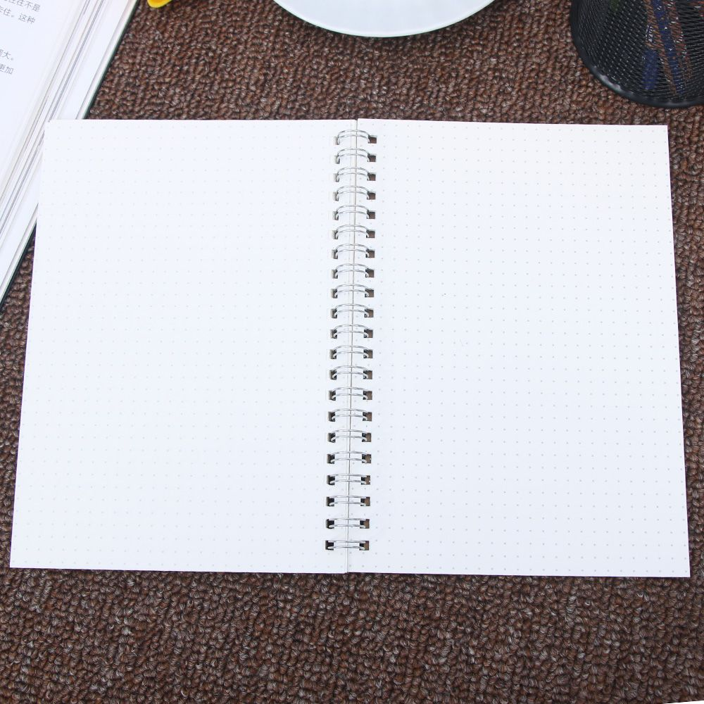 1Pcs Retro Useful A5 Notebook Medium A5 Hardcover Medium Hardcover 90 Pages White Stationery Supply