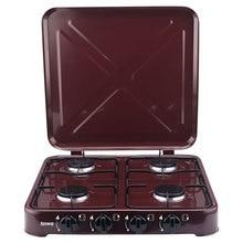 Газовая плита настольная ЯРОМИР ЯР-3014 с крышкой, 4-конфорочная