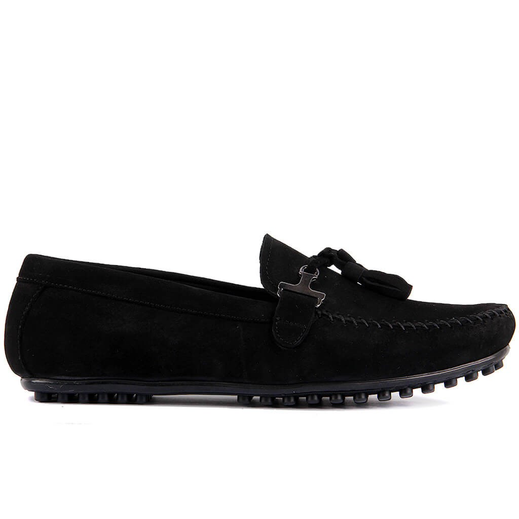 Sail-Lakers Black Nubuck Men Casual Shoes