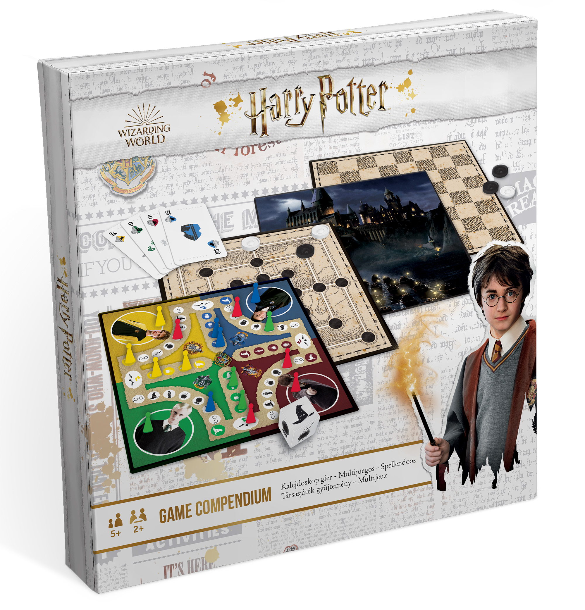 HARRY POTTER, multigames 3 Parchis Parchís boards, ladies, Mill and card deck with accessories set table family Game Room  - AliExpress