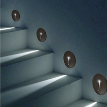 1W Led Recessed Stair Light for Stairs Loft Hallway Corner Wall Lights 85-265V Indoor