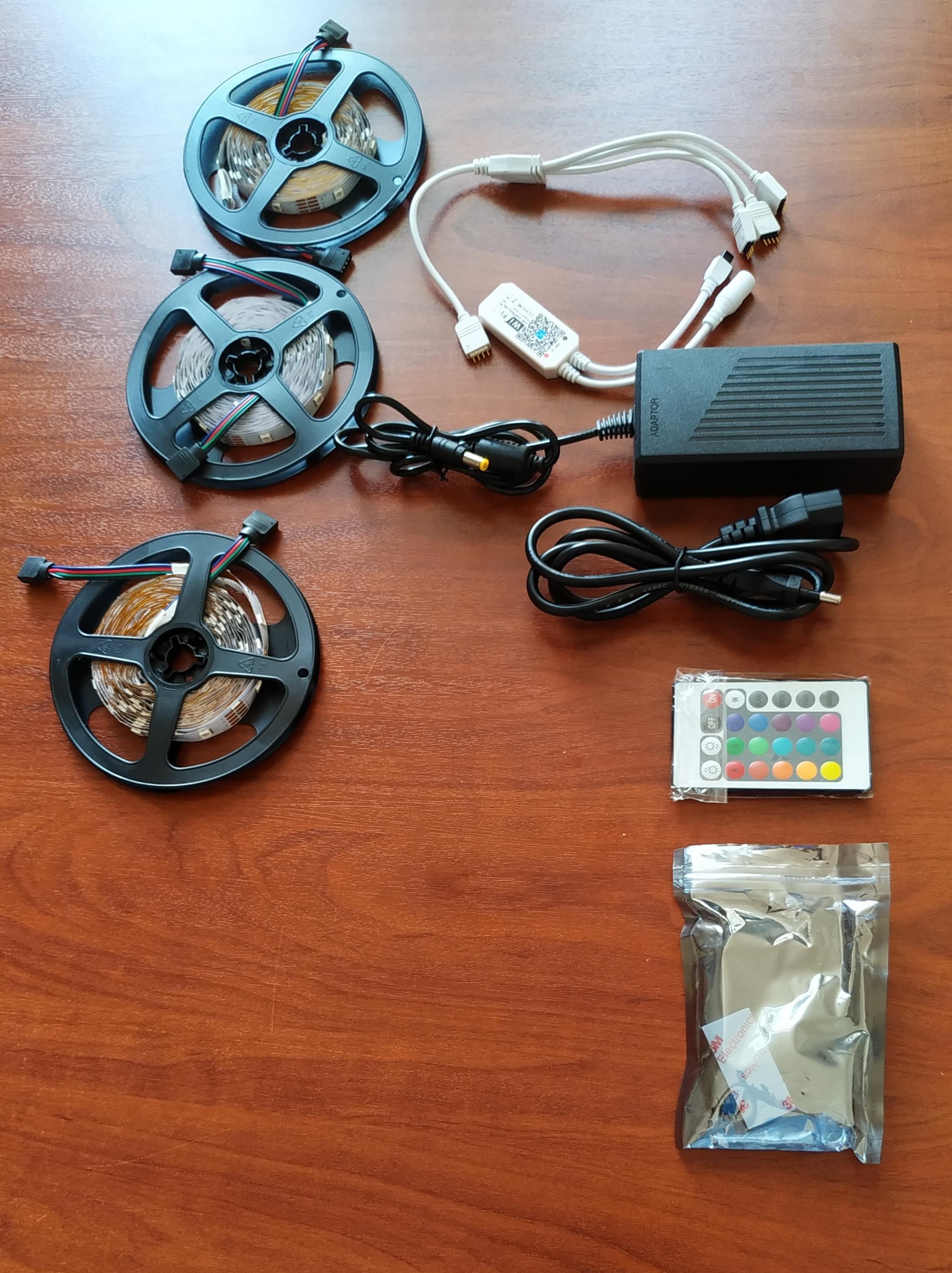 Tiras de LED Adaptador Adaptador Conjunto