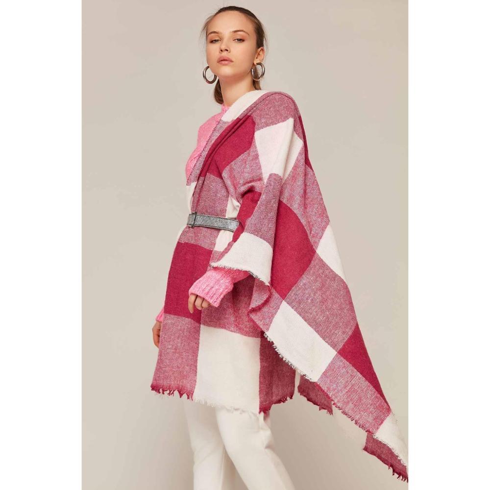Hot Fashion Large Scarves Women Long Winter Wool Blend Soft Warm Plaid Scarf Long Shawl Wrap Blanket Warm Tippet