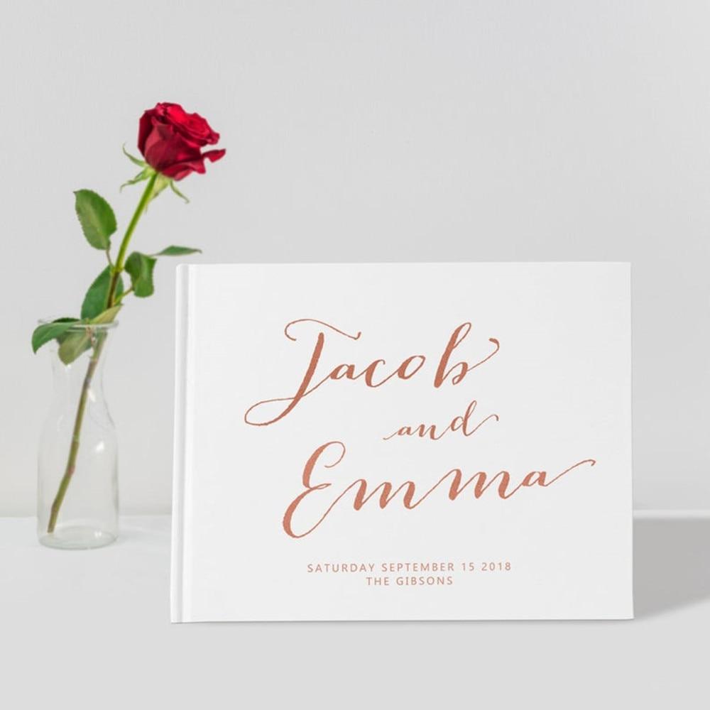Watercolor Rose Guestbook Custom Wedding Guestbook Floral Guestbook Hardbound Wedding Guestbook Watercolor Flowers Wedding Guestbook