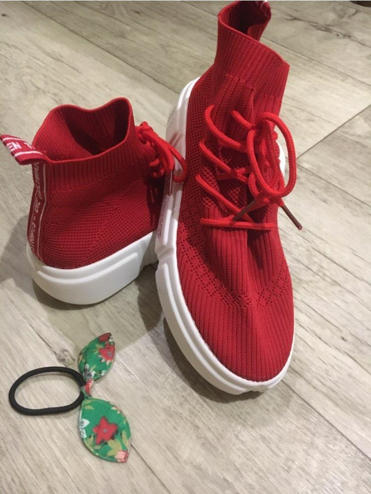 Sap. Vulcaniz. Fem. elastic sapatos respirável