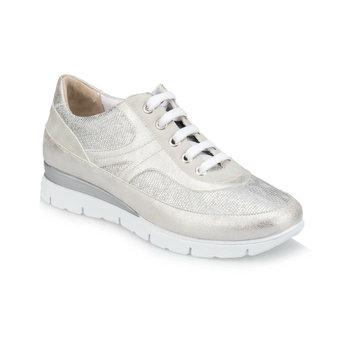FLO TRV910041 srebrne buty damskie Polaris tanie i dobre opinie Trzciny