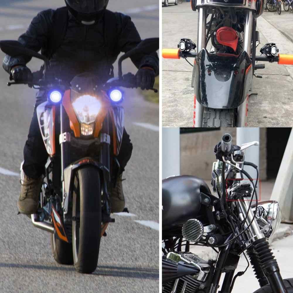 Светодиодные фары для мотоциклов U7 125W 6000k Универсальный прожектор для мотоцикла Hi/Lo вспышка противотуманный налобный фонарь лампа