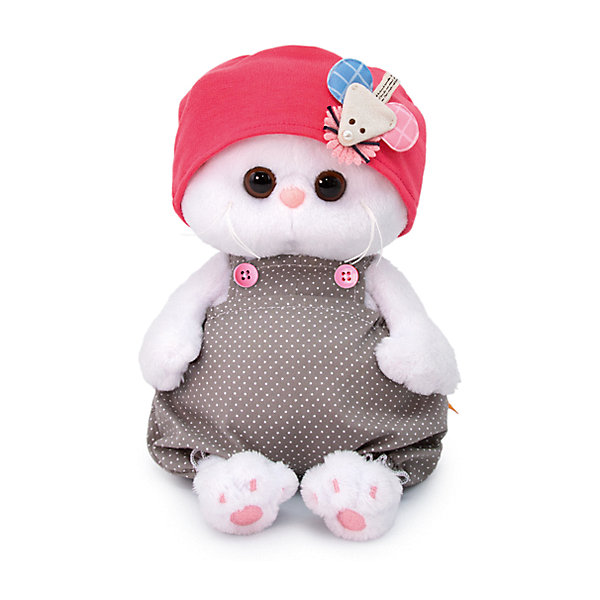 Soft Toy Budi Basa Cat It-It Baby Cap With Mouse, 20 Cm