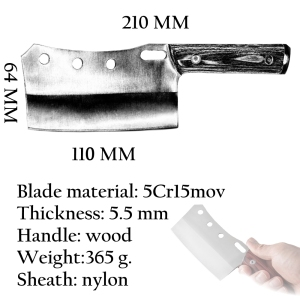 Image 5 - Cleaver Knife Hand Forged Mini Chef Kitchen Knives BBQ Tools Butcher Meat Hatchet Outdoor Camping Home Cooking Christmas Gift