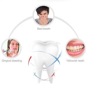Image 4 - Draadloze Elektrische Tandenborstel Automatische Ultrasone Tanden Borstel 360 Graden Nano Silicone U vormige Usb Oplaadbare Teethbrush P40