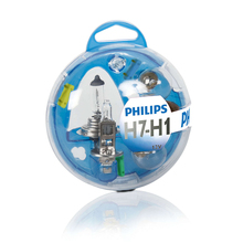 For H1 12 V-55 W (P14, 5S) + H7 12 V-55 W (PX26d) Set lamps Essential Box 55720EBKM