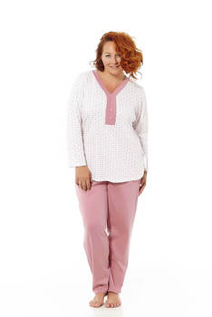 Mabel Intimate Pajamas Women Long Sleeve print undershirt Leaves Lilacs and pant Straight. Sizes Great