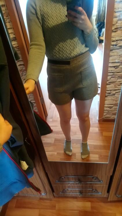 Autumn Fashion Women Shorts High Waist Casual Women Short Pants Wide Leg Pants photo review