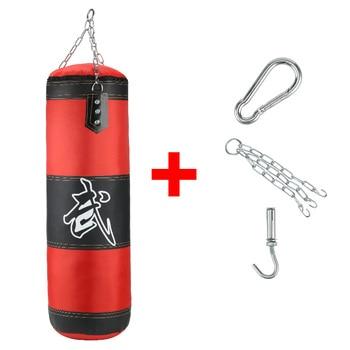 Empty Boxing Sandbag Home Fitness Hook Hanging Kick Punching Bag Boxing Training Fight Karate Punch Muay Thai Sand Bag 7