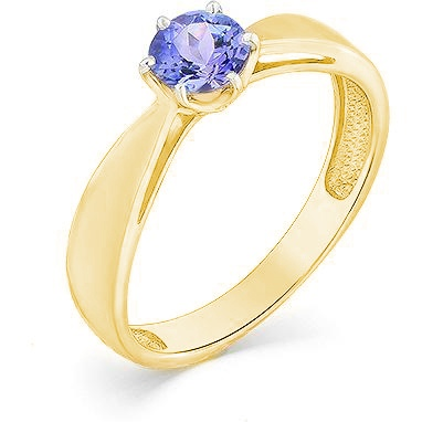 Master Brilliant Ring With 1 Tanzanite In Yellow Gold