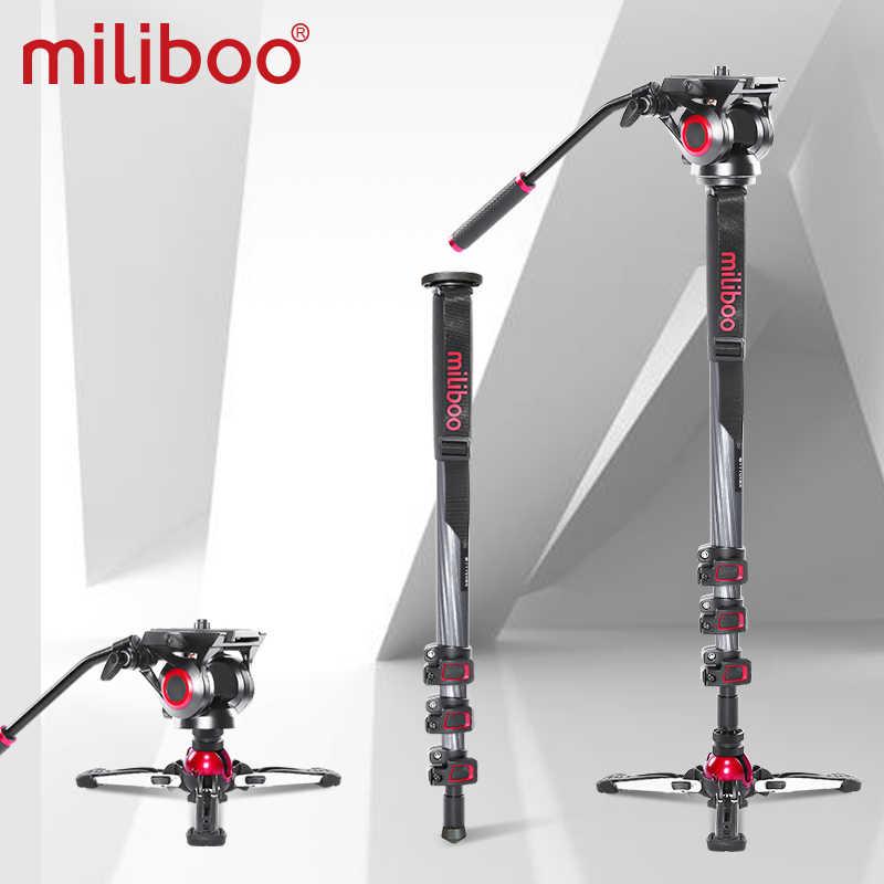 """Miliboo MTT705 Aluminium Portabel Cairan Kepala Kamera Monopod untuk Kamera/DSLR Berdiri Profesional Video Tripod 72 """"Max Tinggi"""