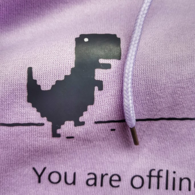 Hoodies with Cartoon Dinosaur & Letters Print photo review