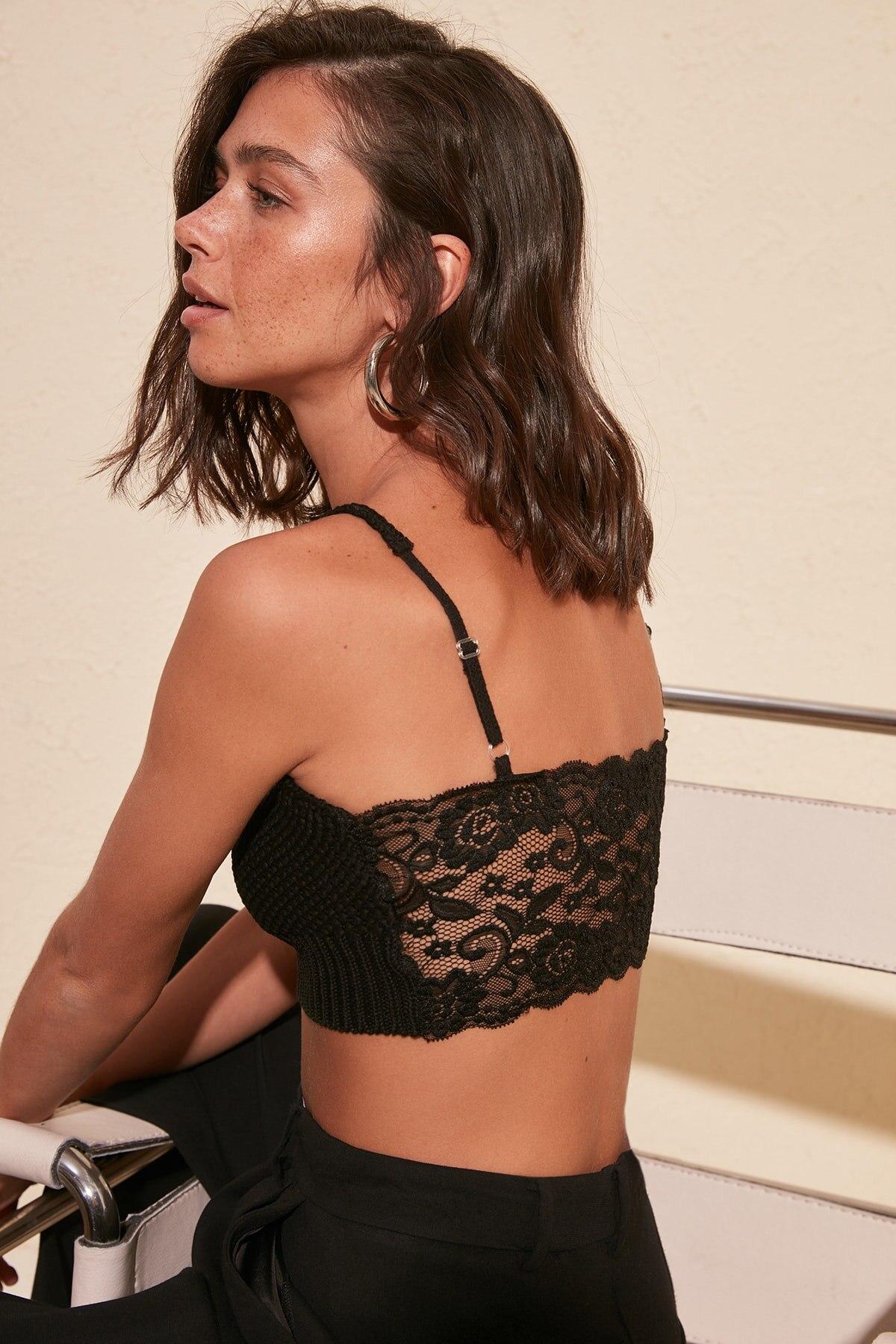 Trendyol Back Lace Detail Knitwear Bluz TWOSS20BZ0246