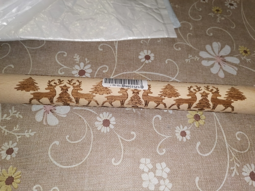 3D Christmas Moose Snowflake Pattern Embossing Rolling Pin photo review