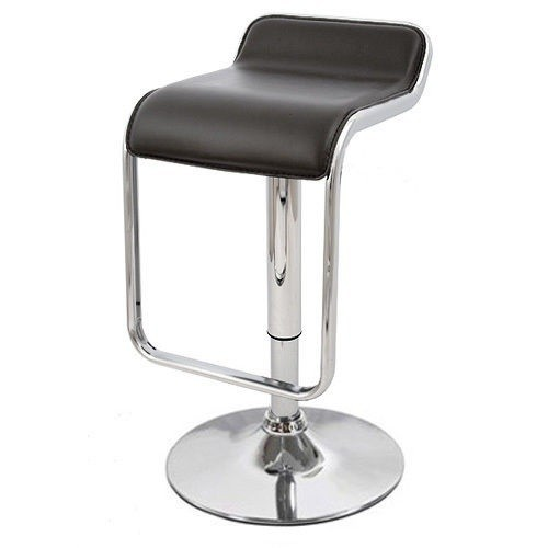 Stool KECK, Plating, Similpiel Black