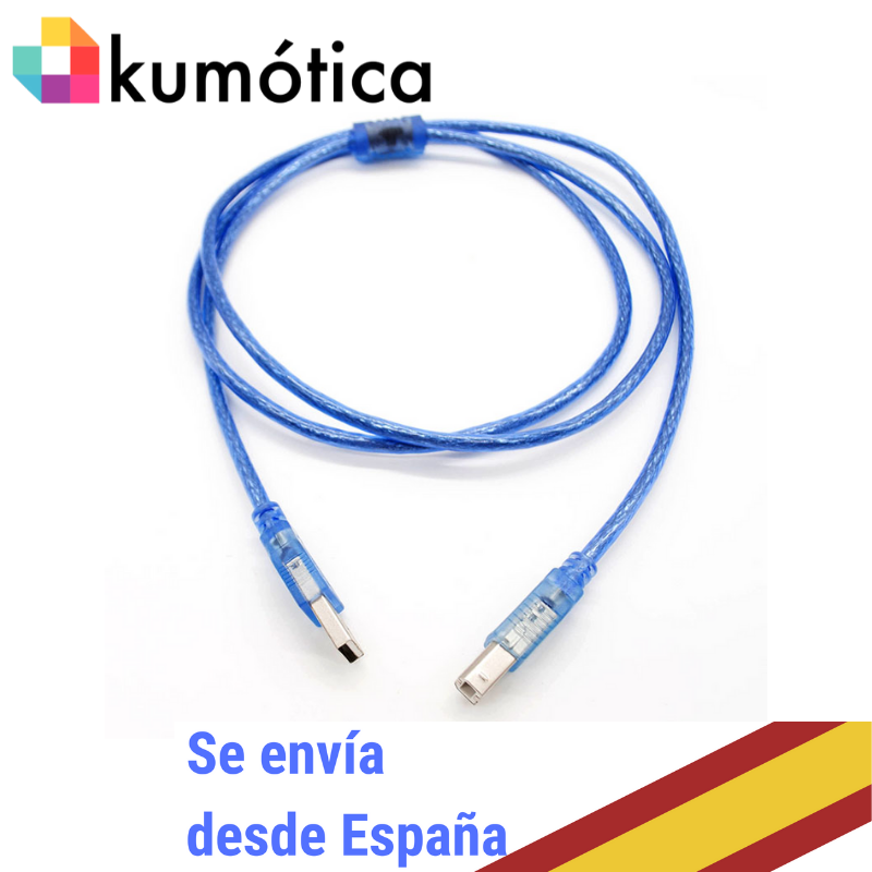 Cable USB A/B 1,5 Meters Color Blue
