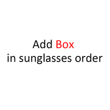 Add BOX in sunglasses order together in one order free shipping cheap Unisex Solid