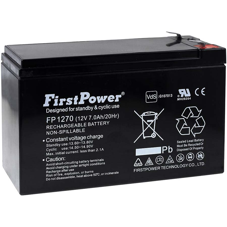 FirstPower GEL battery for SAI APC ...