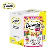 Лакомство Dreamies для взрослых кошек с говядиной и сыром