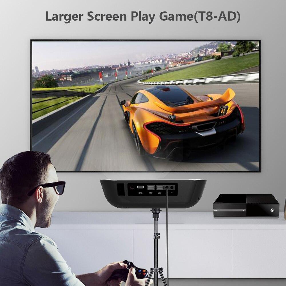 TORA DOLA Full HD 1920*1080P przenośny projektor T8-AD,Android 7.1(2G + 16G), obsługa odtwarzacza kina domowego 4K kina domowego