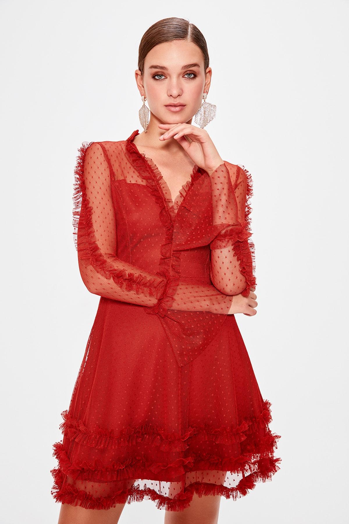 Trendyol Ruffle Detail Dress TPRAW20EL0629