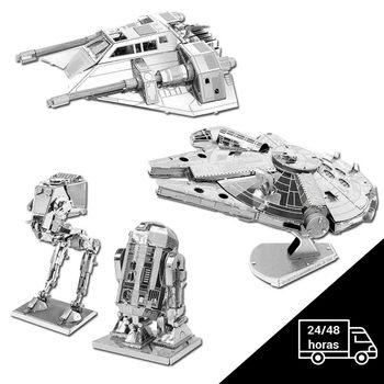 Model metal 3D Star Wars - 5 units - R2D2