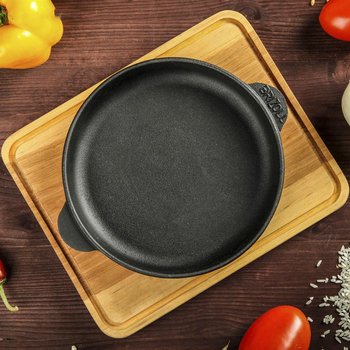 Frying pan cast iron 180x25 with plaque BRIZOLL pan wok dishes cauldron knife mug set thermos bottle N1825-D