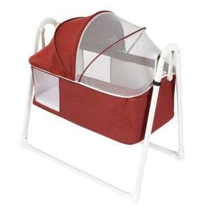 Cradle Jaju Baby Folding Plus Red Light-Gray Easy-Installation Claret Portable