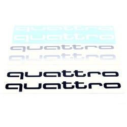 AUDI QUATTRO adhesivo autocollant decals adesivo adesivi aufkleber pack 2 einheit 200x35mm