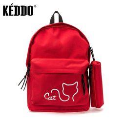 women's backpack red keddo