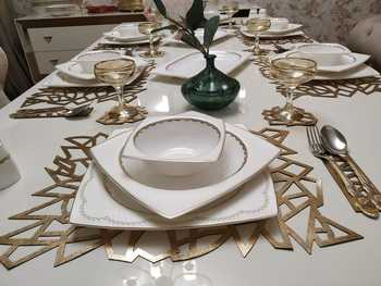 MELTEM - Ottoman Motifs Table Runner Dinner Set (4/6/7/8/10/12 Persons) - Wedding Table Set - Camino de mesa image