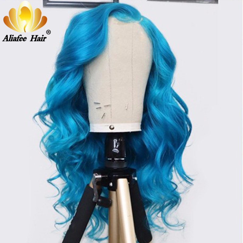 Blonde/Blue/Purple/Orange/Red Colored Human Hair Wigs 13x4 Body Wave Lace Front Wig 150% 180% Density Remy Hair Wigs For Women