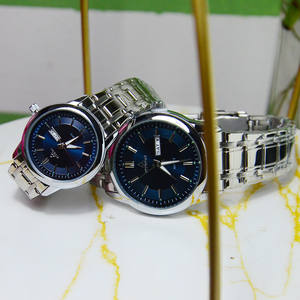 Wrist-Watch Couples Quartz Men Women Lovers with for Luxury Business And Waterproof Date-Calendar