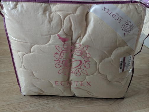 """Blanket """"Golden Fleece light"""" collection Premium. Production company Ecotex(Russia).-in Quilts from Home & Garden on AliExpress"""
