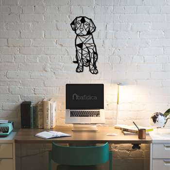 Metal Wall Art Geometric Dog, labrador Interior Decoration Home Decor Wall Hanging Home Decoration Wall Art 50x24 cm