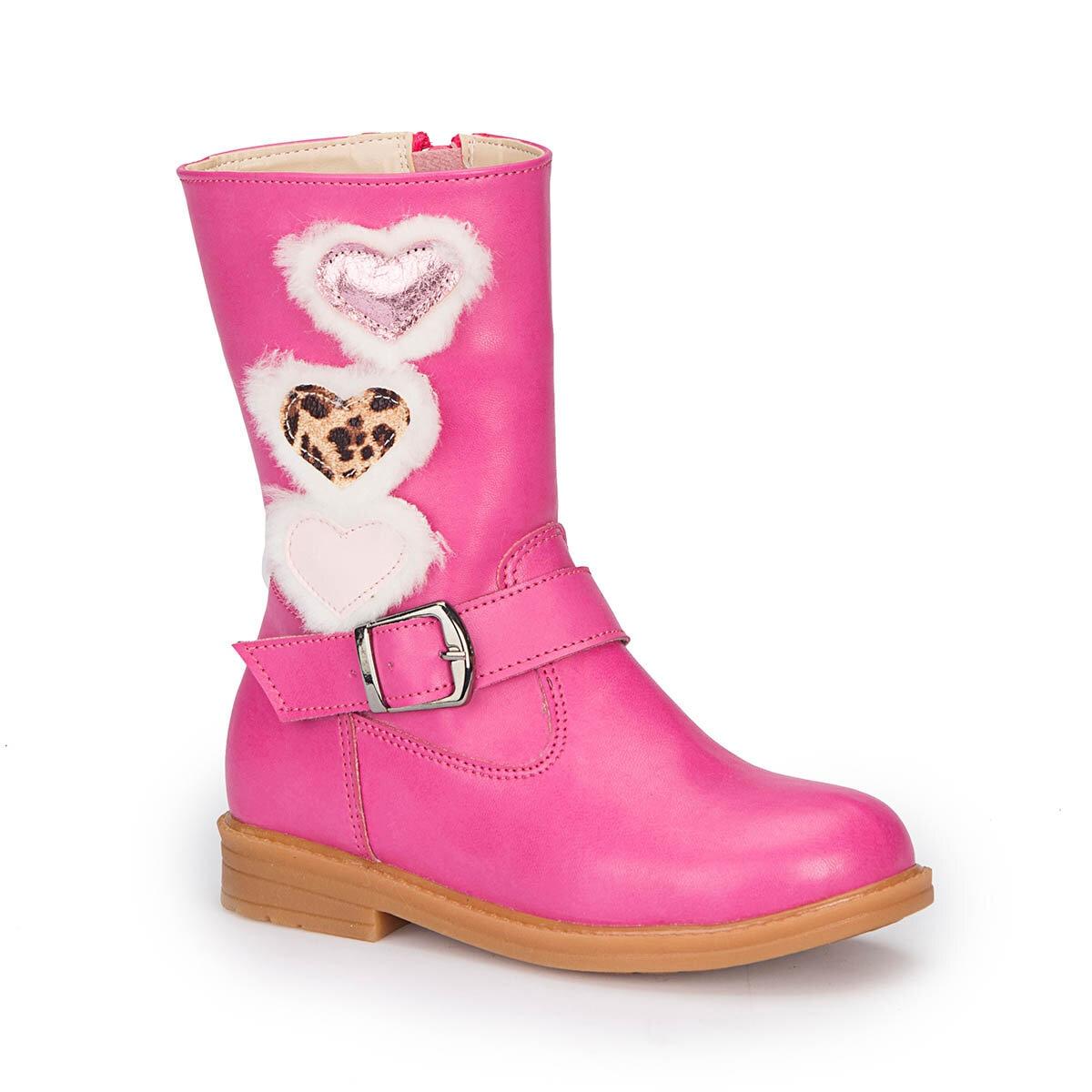 FLO 72.509603.P Fuchsia Female Child Classic Boots Polaris